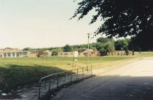 Photo from Brian Cleverly The path up to Westlain Grammar School 1986