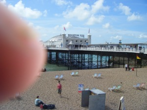 My finger having a day out at the Pier.
