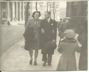 April 1947 Bert and Nancy St Martins, London