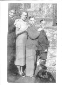 Left to Right: Jack, Nancy, Gordon & Ron Dinnis in September 1938