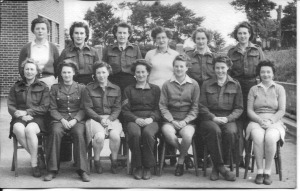 June 1945 at Bristol. Nancy is third from left on the back row. The Gym Class