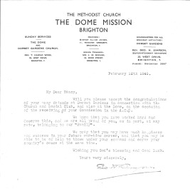 12 February 1943 Letter from Nancy's home church