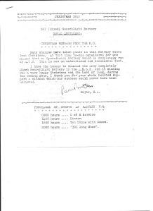 Christmas 1942 301 (Mixed) Searchlight Battery Royal Artillery