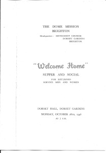 Welcome Home Supper and Social