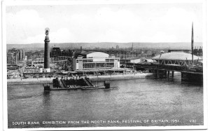 South Bank Exhibition from the North Bank, Festival of Britain 1951