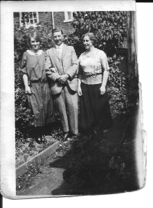 Ernest and Edith with their daughter, Dora in August 1924