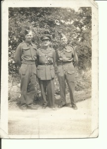 5 June 1943 left to right Gordon Charles Dinnis, Joseph Taylor Dinnis & Ronald Stanley Dinnis