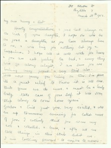 28 March 1953 Letter from Annie to her daughter Nancy
