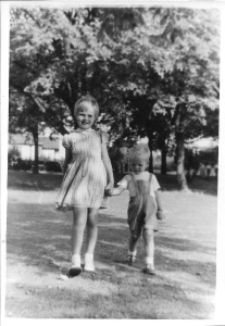 Sue and Ian in 1959, Queens Park, Brighton