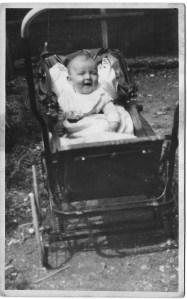 enid may as baby in pram