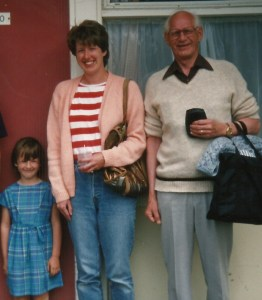 Gordon, my daughter and me on holiday at Camber Sands ... with the bag. And I have mine too!