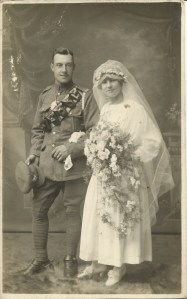 Jack and Florence on their wedding day.