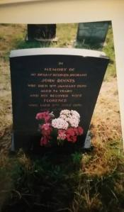 Jack and Florences grave