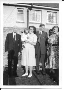 left to right: Joseph, Sue, Nancy, Gordon, Enid and Annie. Around 1953/1954.