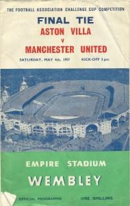 Aston Villa v Manchester United 4 May 1957