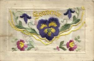 Souvenir with hidden pocket containing small card