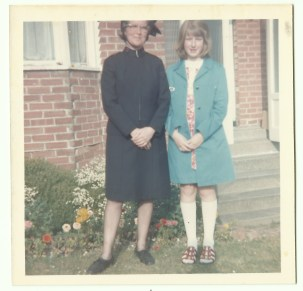 02 dec number 2 mum and me in uniform in garden colour