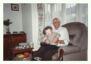 Gordon with his grandson, Jonathan