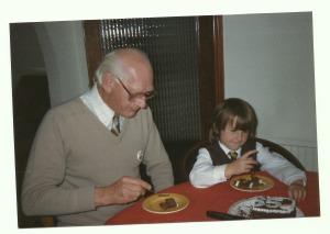 Gordon and his granddaughter, Emma