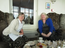 Sue (left) and me enjoying the excellent treats of afternoon tea at The Grand Hotel