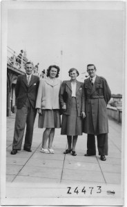 Left to right: Jack, Nancy, Annie (their mother) and Ron, their youngest brother. Taken in September 1948