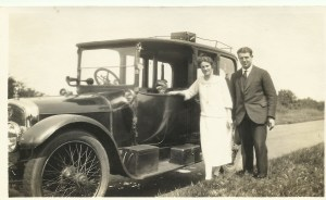 Rose and Wilf at Guildford, Surrey 10 July 1927