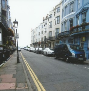 Charlotte Street, Brighton beach is at the bottom of the road.